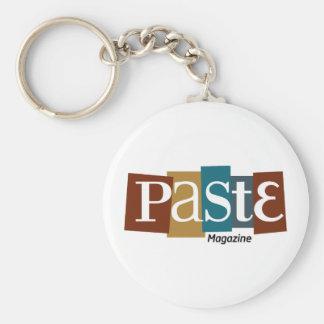 Paste Block Logo Magazine Color Basic Round Button Key Ring