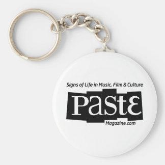 Paste Block Logo Url and Tag Black Basic Round Button Key Ring