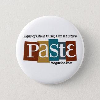 Paste Block Logo Url and Tag Color 6 Cm Round Badge