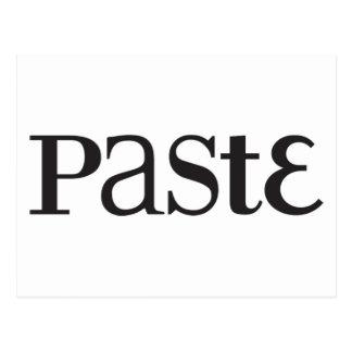 Paste Classic Black Logo Postcard
