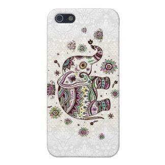 Paste Colors Retro Flowers & Elephant iPhone 5/5S Cases
