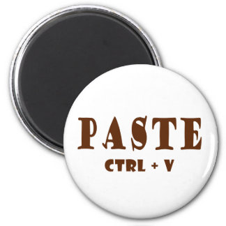 Paste shortcut key 6 cm round magnet