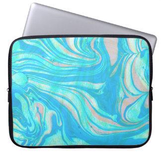 Paste Tones Watercolor Marble Stone Laptop Sleeve