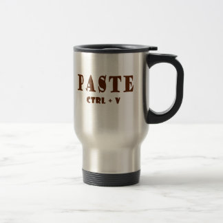 Paste unformatted text shortcut stainless steel travel mug