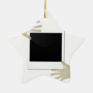 Pasted Polaroids Ceramic Star Decoration