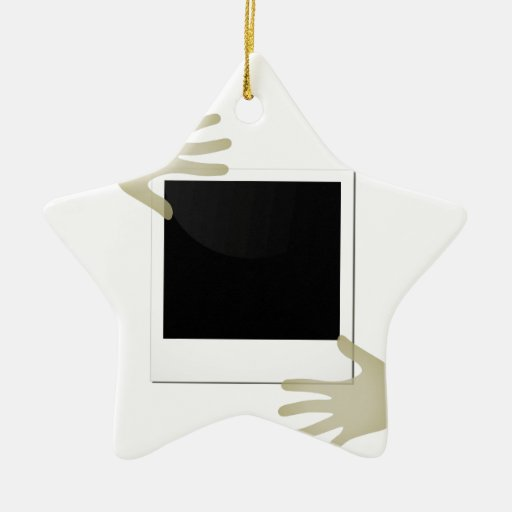 Pasted Polaroids Christmas Ornaments