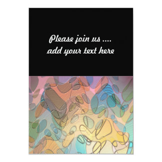 Pastel Abstract Art Simulated Glass 13 Cm X 18 Cm Invitation Card