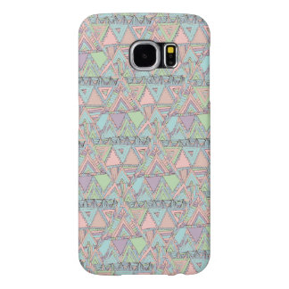 Pastel Abstract Aztec Triangles Sketch Pattern Samsung Galaxy S6 Cases