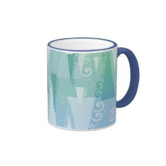 Pastel Abstract Christmas Trees Ringer Coffee Mug