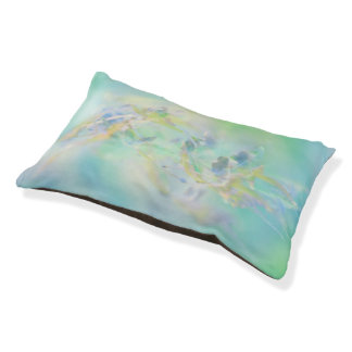 Pastel Abstract Floral Pet Bed