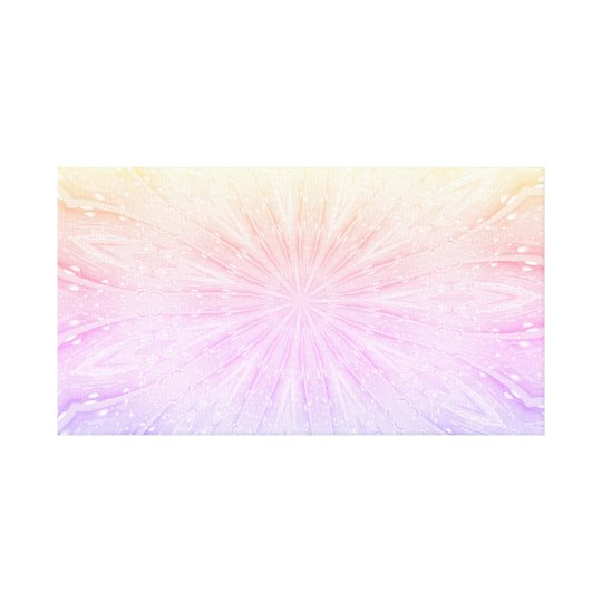 Pastel Abstract Star Flower Design Canvas Print