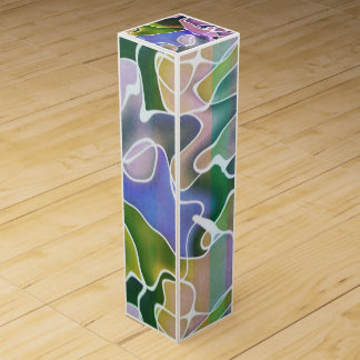 Pastel Abstract Stripes Wine Box