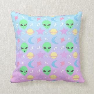 Pastel Alien Pattern Cushion