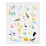 Pastel Animal ABC Print
