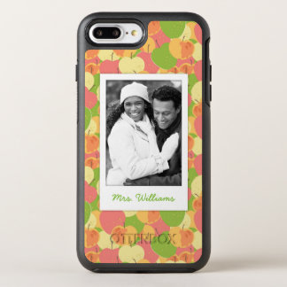 Pastel Apples Pattern | Add Your Photo OtterBox Symmetry iPhone 8 Plus/7 Plus Case