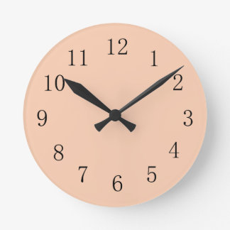 Pastel Apricot Kitchen Wall Clock