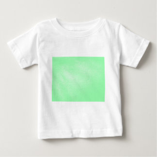 Pastel Aqua Green Leather Look Baby T-Shirt