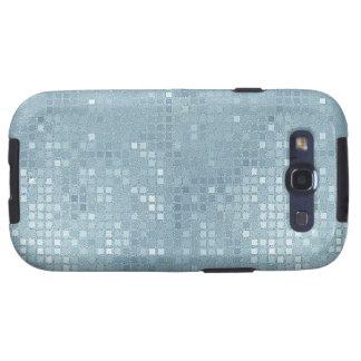 Pastel Aqua Sequin Effect Phone Cases