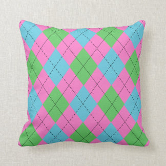 Pastel Argyle Cushion