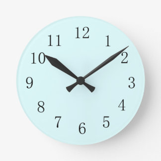 Pastel Baby Blue Kitchen Wall Clock