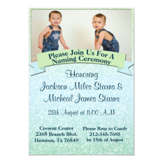 Pastel Baby Naming Ceremony Invite