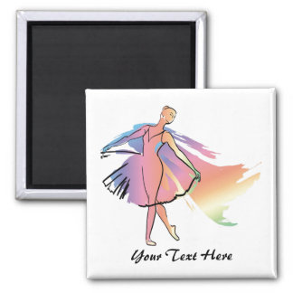 Pastel Ballerina (Personalized_ Magnet