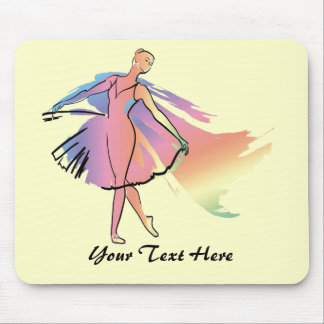 Pastel Ballerina (Personalized_ Mouse Pad