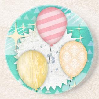 Pastel Balloons Drink Coaster