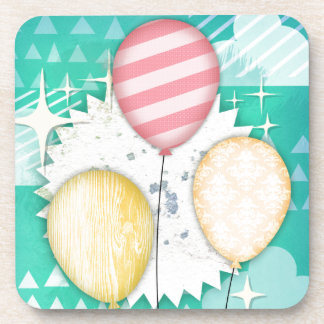 Pastel Balloons Coasters