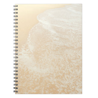 Pastel Beach Photography Sand and Sea foam Spiral Notebook