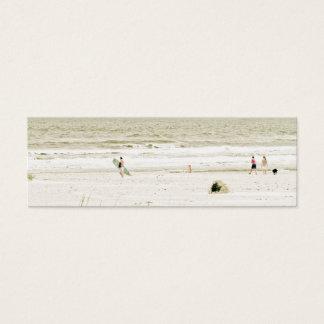Pastel Beach Scene Mini Business Card