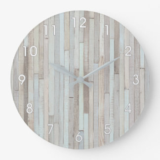 PASTEL BEACH WOOD CLOCK