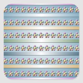 Pastel Beads and Ribbons Square Sticker