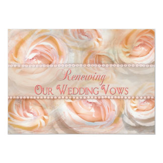 Pastel Beauty Renewing Vows Invitation - Roses