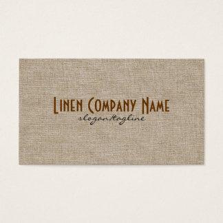 Pastel Beige Natural Linen Burlap Fabric Look Business Card