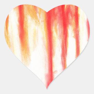 Pastel Bleeding Wound (tachism, expressionism) Heart Sticker
