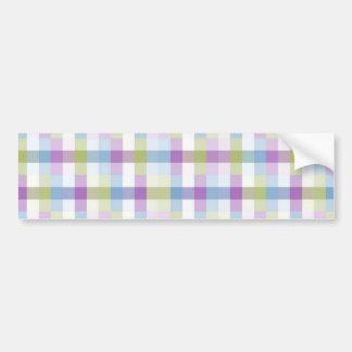 Pastel Block Pattern Bumper Sticker