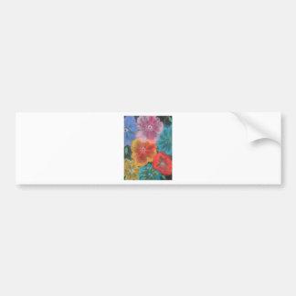 pastel blooms bumper sticker