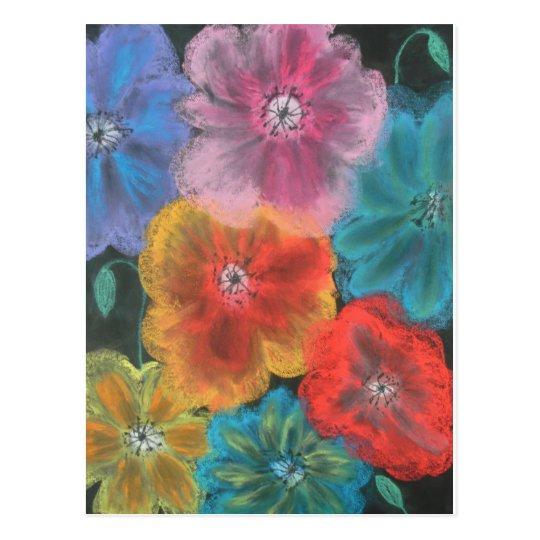 pastel blooms postcard