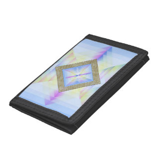 Pastel Blue Abstract Tri-fold Wallet