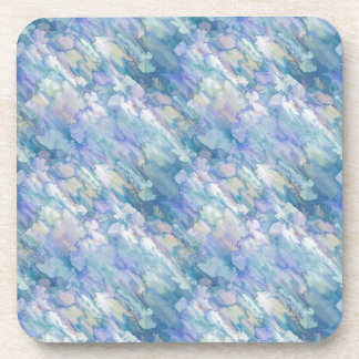 Pastel Blue Abstraction Coaster