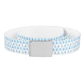 Pastel Blue Anchor Pattern Belt