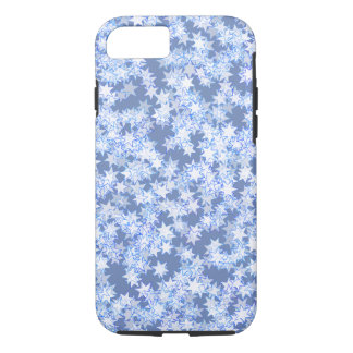 Pastel Blue and Periwinkle Kawaii Stars iPhone 8/7 Case