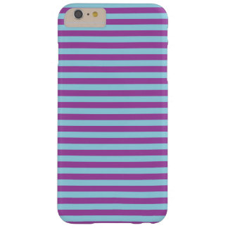 Pastel Blue and Purple Stripes Barely There iPhone 6 Plus Case