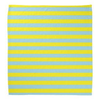 Pastel Blue and Yellow Stripes Kerchiefs