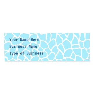 Pastel Blue Animal Print Giraffe Pattern Pack Of Skinny Business Cards