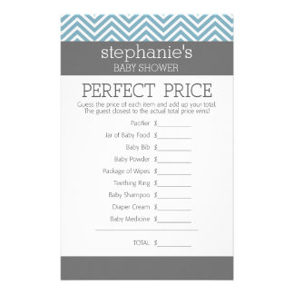 Pastel Blue Baby Shower Game - Perfect Price Stationery Paper
