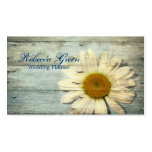 pastel blue barnwood country daisy wedding pack of standard business cards