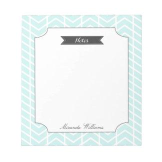 Pastel Blue Chevron Notepad
