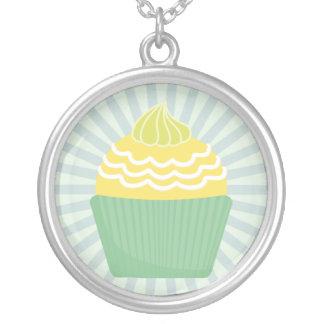 pastel blue cupcake necklace